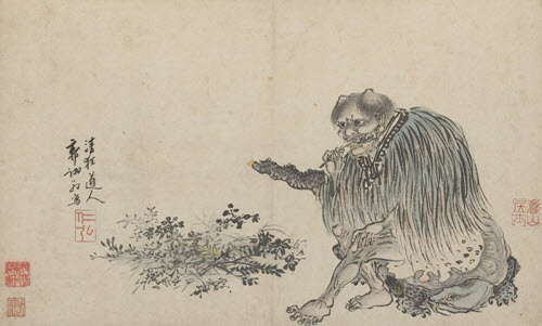 Guo Xu's portrayal of Shennong dated 1503. From Wikipedia. Public Domain. See Reference (8)