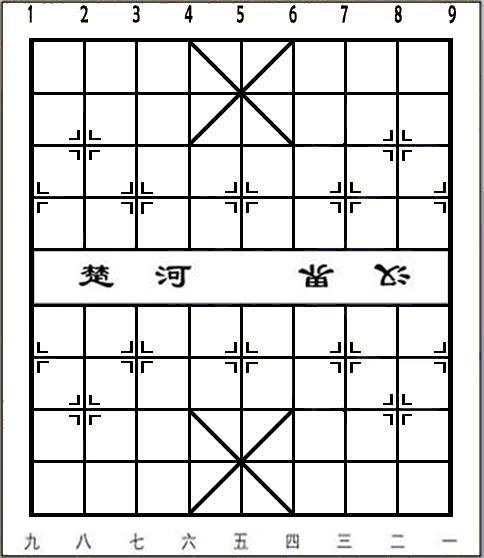 Empty Xiangqi (Chinese Chess) Board