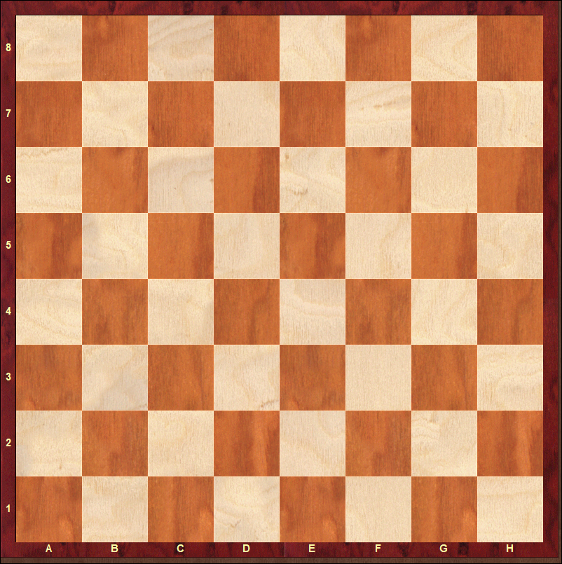 Empty International Chessboard. Donated by Davide Nastasio.