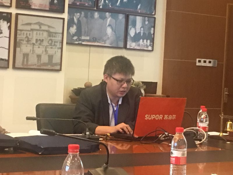 Presenting my paper in 2016 at the annual Hangzhou Chess Conference