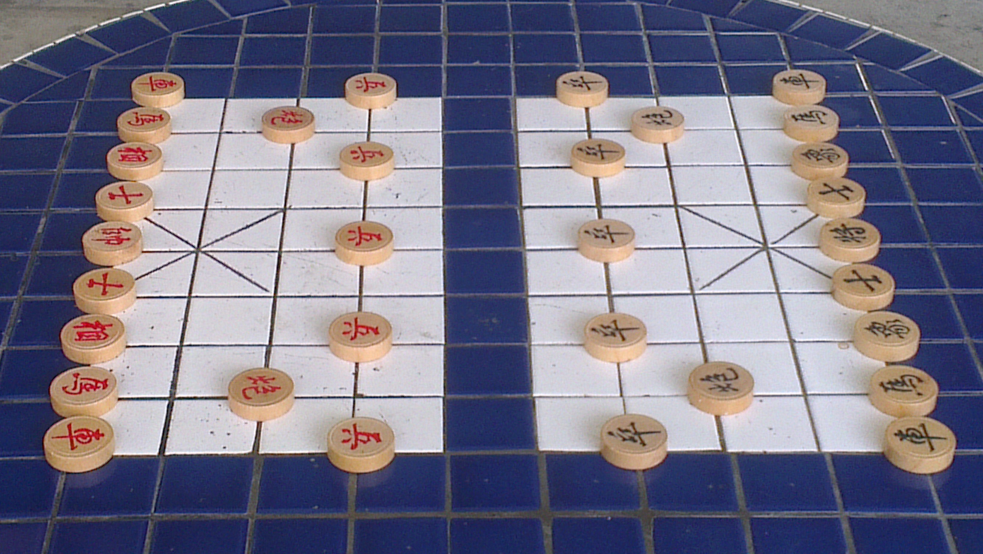 Xiangqi Board found on the void decks in housing estates in Singapore