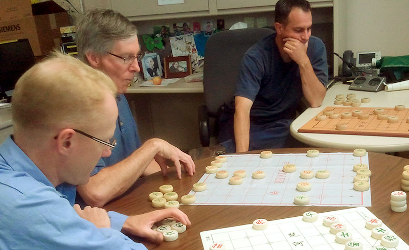 Xiangqi gathering in the US. Photo given by Chris Hankinson